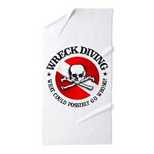 Wreck Diving (Skull) Beach Towel