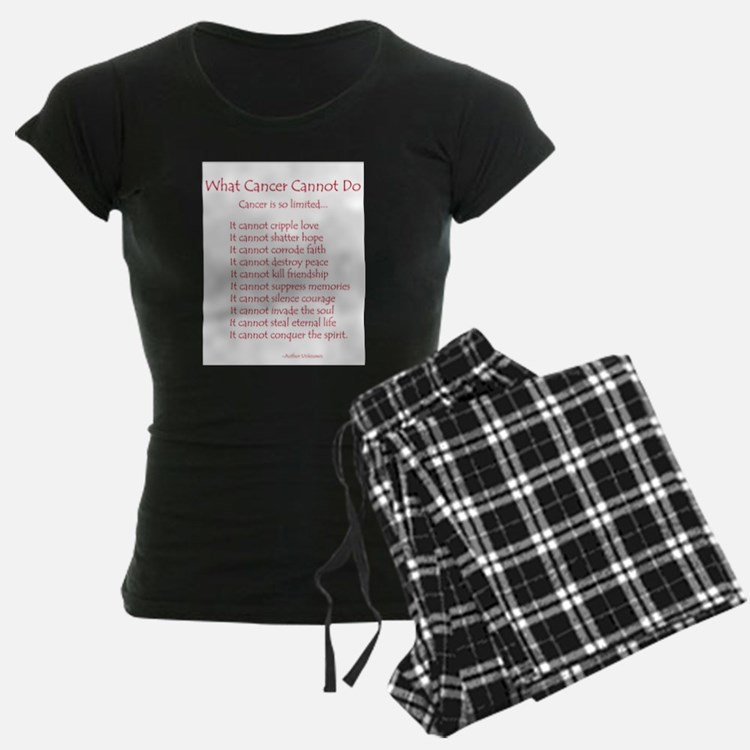 What Cancer Cannot Do Poem Pajamas