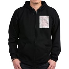 What Cancer Cannot Do Poem Zip Hoodie