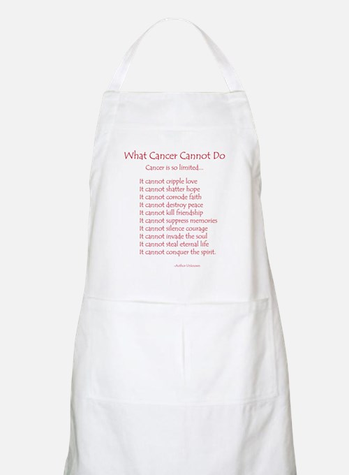 What Cancer Cannot Do Poem Apron
