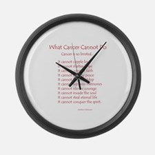 What Cancer Cannot Do Poem Large Wall Clock