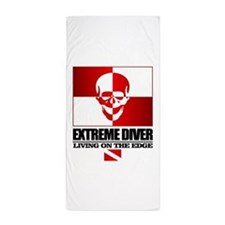Extreme Diver (Skull) Beach Towel
