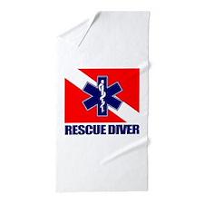 Rescue Diver (emt) Beach Towel