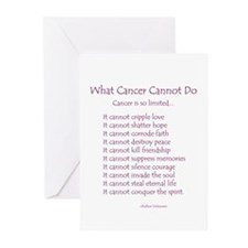 What Cancer Cannot Do Poem Greeting Cards (Pk of 2