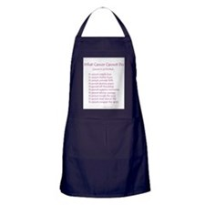 What Cancer Cannot Do Poem Apron (dark)