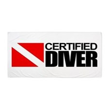 Certified Diver Beach Towel