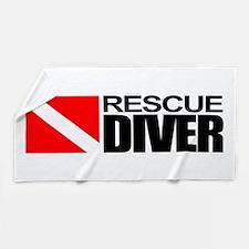 Rescue Diver Beach Towel