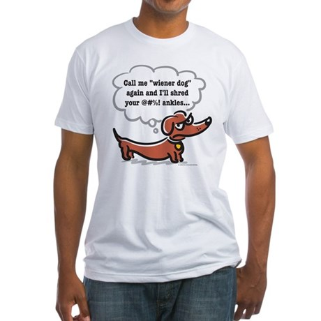 Wiener dog (ankles) Fitted T-Shirt