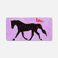 Horse Love and Hearts Aluminum License Plate