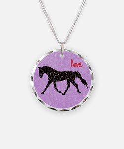 Horse Love and Hearts Necklace