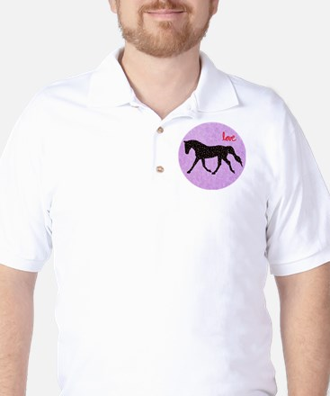 Horse Love and Hearts Golf Shirt