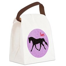 Horse Love and Hearts Canvas Lunch Bag