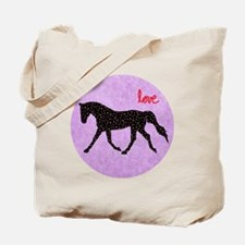Horse Love and Hearts Tote Bag