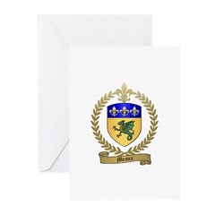 MEAUX Family Crest Greeting Cards (Pk of 10)