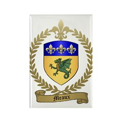 MEAUX Family Crest Rectangle Magnet (10 pack)