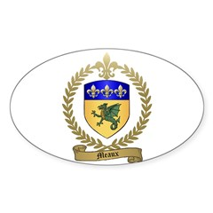MEAUX Family Crest Oval Decal