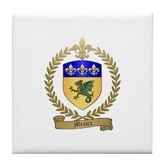 MEAUX Family Crest Tile Coaster