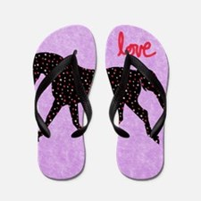 Horse Love and Hearts Flip Flops