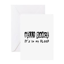 Belly Dance dance Designs Greeting Card