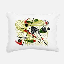 Eames Inspired Rectangular Canvas Pillow