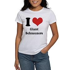 I Heart Giant Schnauzers Women's Tee (Both Sides)