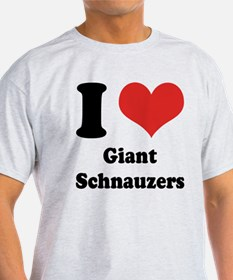 I Heart Giant Schnauzers T-Shirt