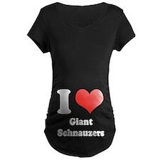 I Heart Giant Schnauzers T-Shirt