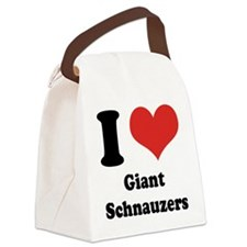 I Heart Giant Schnauzers Canvas Lunch Bag