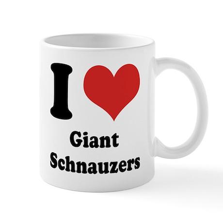 I Heart Giant Schnauzers Mug