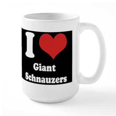 I Heart Giant Schnauzers Large Mug