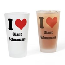 I Heart Giant Schnauzers Drinking Glass