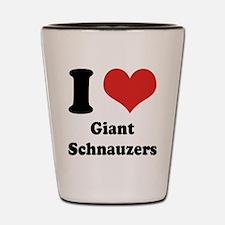 I Heart Giant Schnauzers Shot Glass