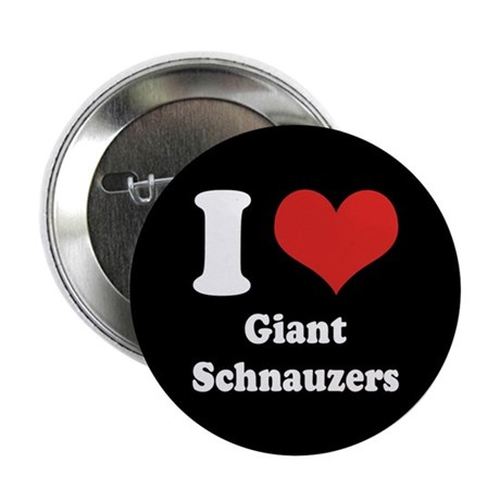 "I Heart Giant Schnauzers 2.25"" Button (10 pack)"