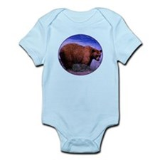 Brown Grizzly Bear Infant Bodysuit