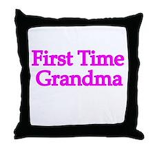 First Time Grandma Throw Pillow