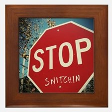 Stop Snitchin Framed Tile