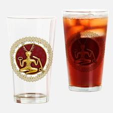 Gold Cernunnos & Spirals #4 Drinking Glass