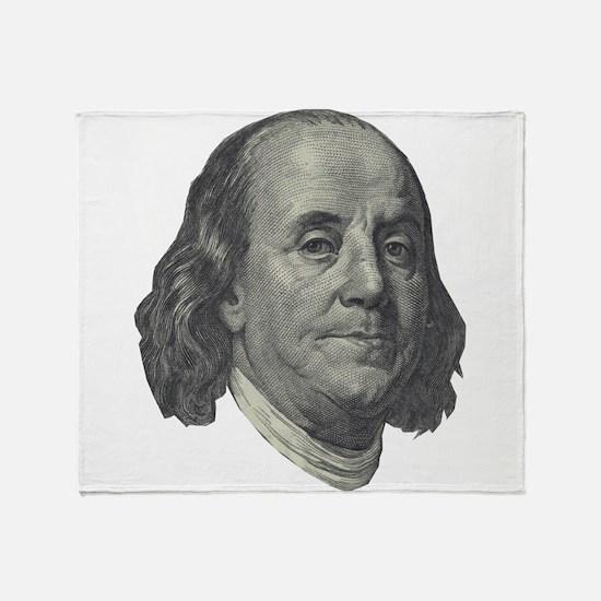 Franklin $100 Design Throw Blanket