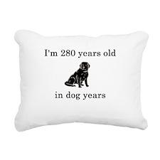 40 birthday dog years black lab Rectangular Canvas