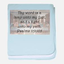 Psalms 119:105 baby blanket