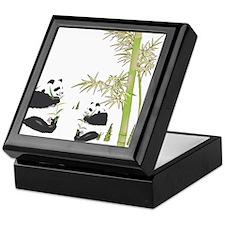 Panda Bamboo Keepsake Box