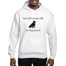 50 birthday dog years lab Hoodie