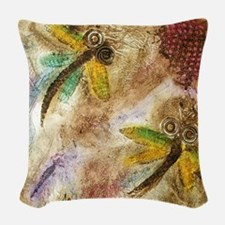 Dragonfly Lollipop Woven Throw Pillow