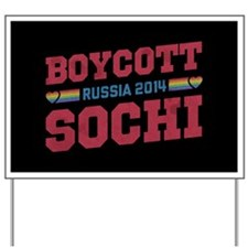 Boycott Sochi Yard Sign