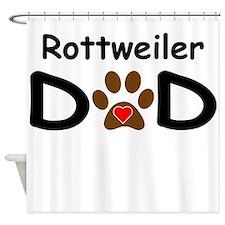 Rottweiler Dad Shower Curtain