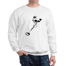 metal detector black Sweatshirt