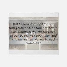 Isaiah 53:5 Throw Blanket