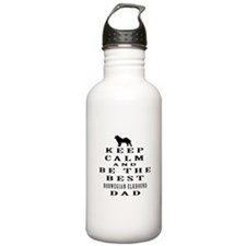 Norwegian Elkhound Dad Designs Water Bottle