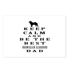 Norwegian Elkhound Dad Designs Postcards (Package