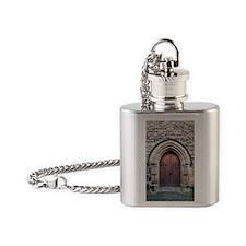 Old Wooden Door Flask Necklace
